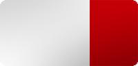 Farbe verzinkt + weiß mit rot reflektierenden Streifen