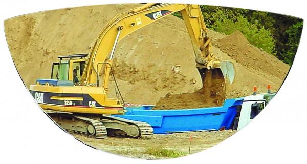 Rückspiegel für Baumaschinen Vialux®, in Polymir®-Qualität, 288x27x128 mm