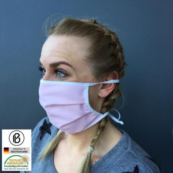 Gesichtsmaske für Erwachsene und Kinder, aus Baumwolle und Polyester, farbig