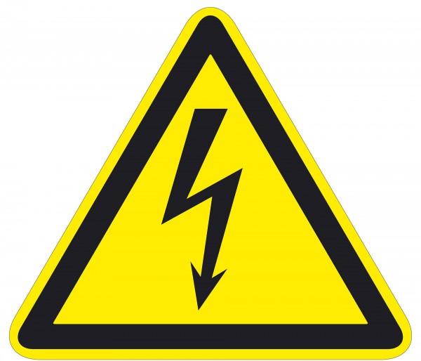 Warnzeichen / Warnung vor elektrischer Spannung / für Bodenmarkierung (indoor), ASR 1.3