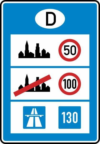 Informationstafel an Grenzübergangsstellen Nr. 393