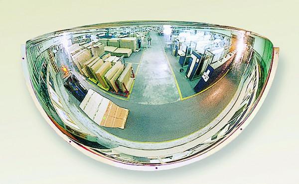 Sicherheitsspiegel 1/4-kugelförmig Vialux®, in PMMA®3-Qualität, 660x270x330 mm