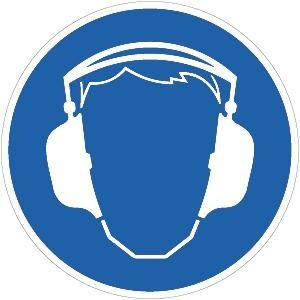 Gebotsschild: Gehörschutz benutzen (alte ASR A1.3, 2007)