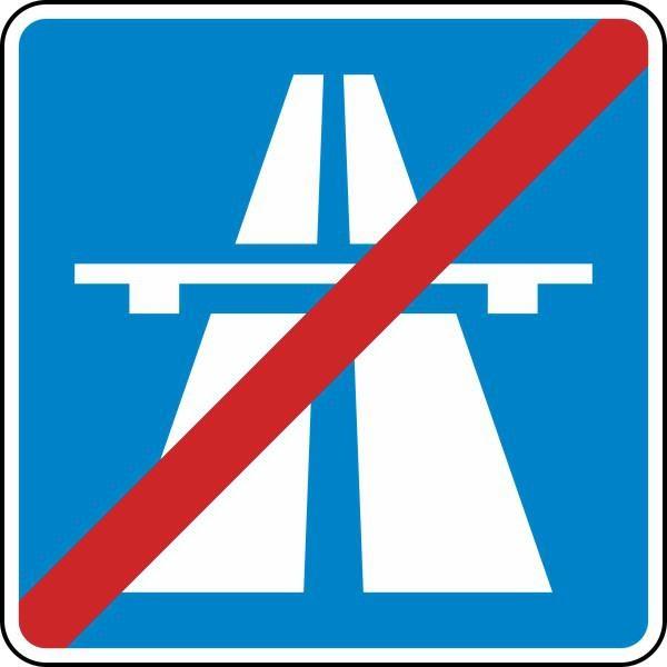Ende der Autobahn Nr. 330.2 nach STVO