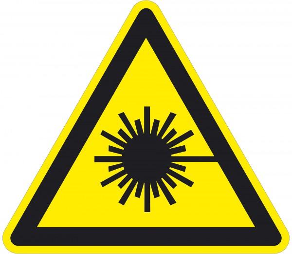 Warnzeichen / Warnung vor Laserstrahl / für Bodenmarkierung (indoor), PVC-antirustch, ASR 1.3